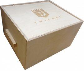 Holzbox für Wein (für 6 Flaschen)
